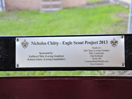 Eagle Scout Projects build a buddy bench