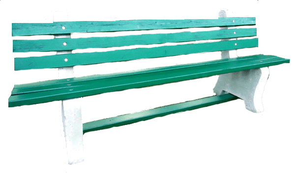 concrete park bench green